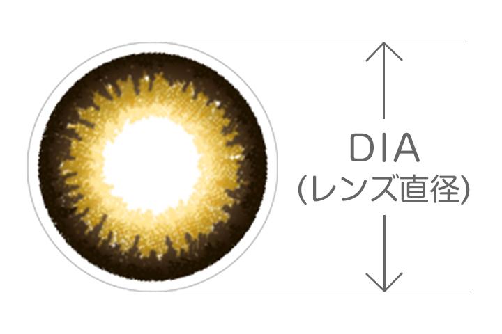 カラコン DIA(レンズ直径)