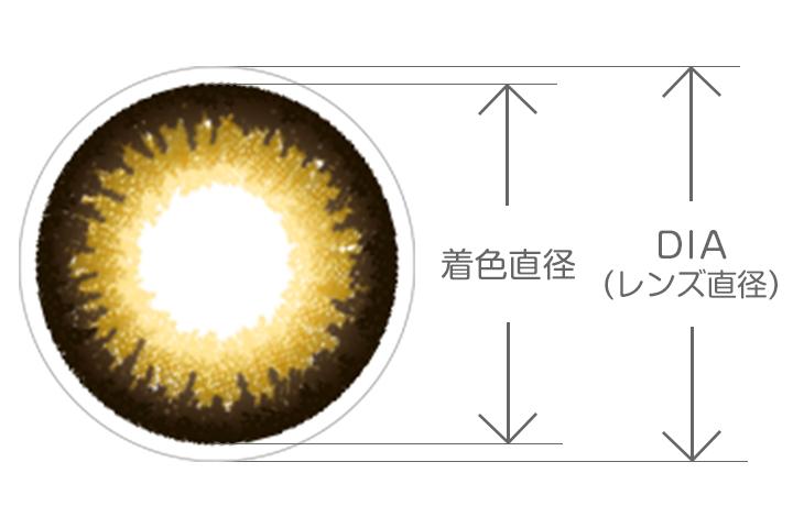 カラコン DIAと着色直径