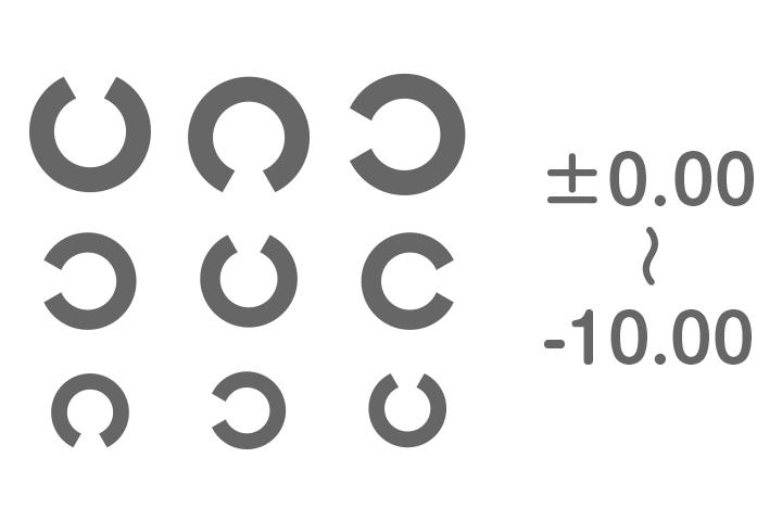 カラコン PWR(度数)