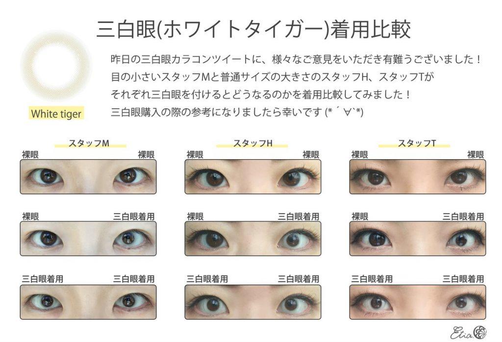 エティア 三白眼カラコン 比較