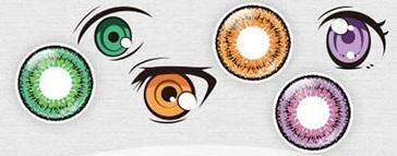 アニメキャラによくある、光があたった瞳を再現できる